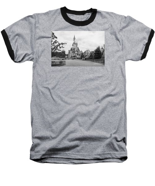 Sleeping Beauty Castle Baseball T-Shirt by Roger Lighterness