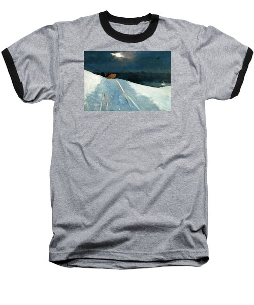 Baseball T-Shirt featuring the painting Sleigh Ride by Winslow Homer