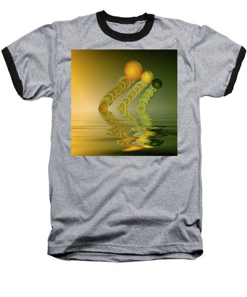 Baseball T-Shirt featuring the photograph Slices  Grapefruit Lemon Lime Citrus Fruit by David French