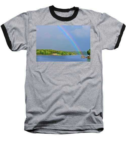 Smith Mountain Lake Rainbow Baseball T-Shirt