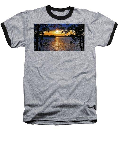 Smith Mountain Lake Summer Sunet Baseball T-Shirt