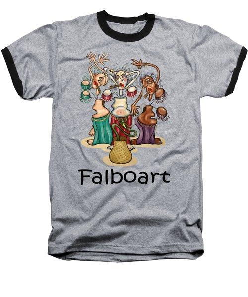 Smoking Belly Dancers Baseball T-Shirt