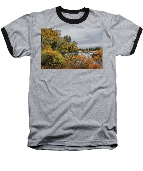 Snake River Greenbelt Walk In Autumn Baseball T-Shirt by Yeates Photography