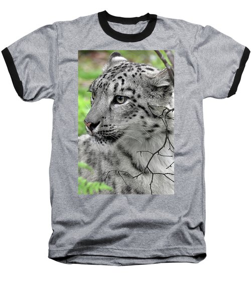 Snow Leopard Baseball T-Shirt