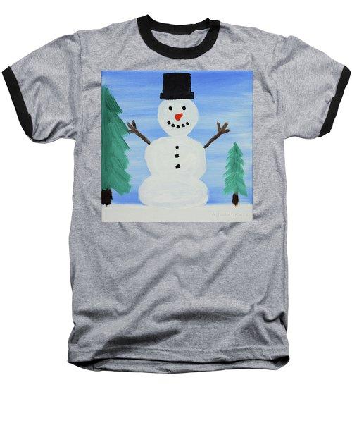 Snowman Baseball T-Shirt by Anthony LaRocca