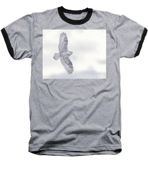 Snowy Flyby Baseball T-Shirt
