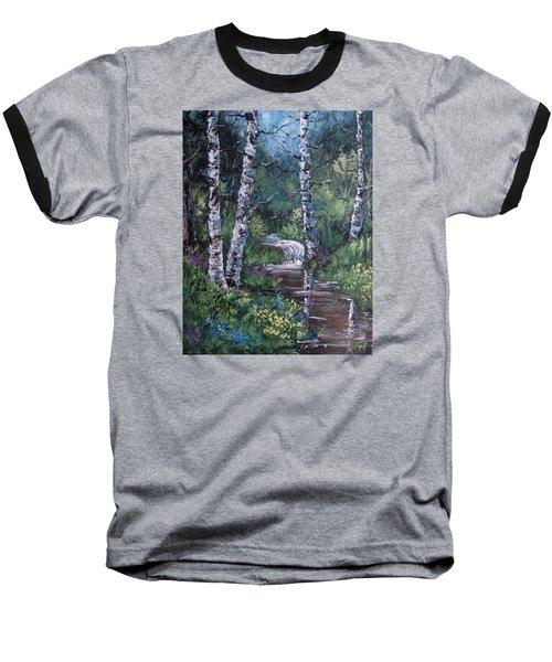 Solitude Baseball T-Shirt by Megan Walsh