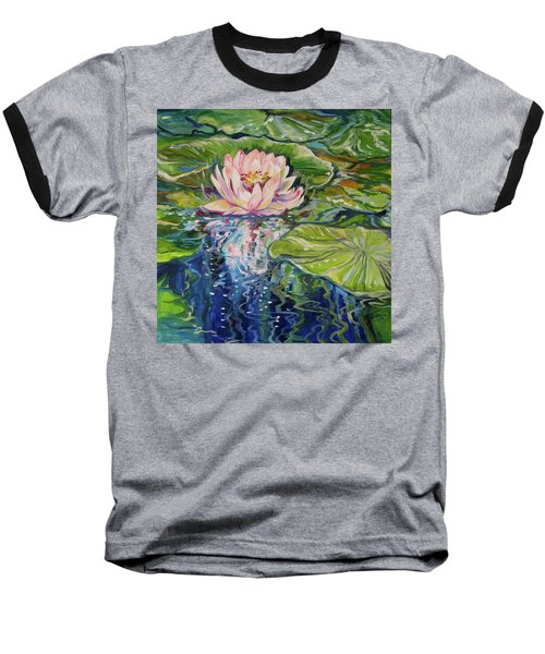 Solitude Waterlily Baseball T-Shirt by Marcia Baldwin