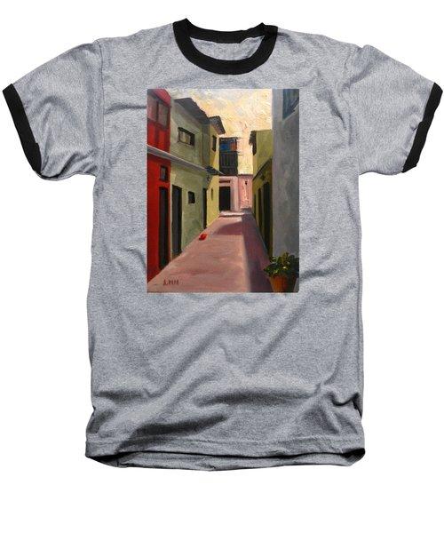 Somewhere In The City, Peru Impression Baseball T-Shirt
