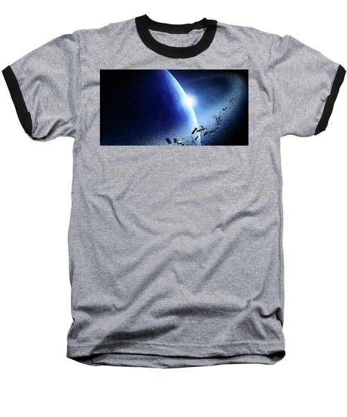 Space Junk Orbiting Earth Baseball T-Shirt