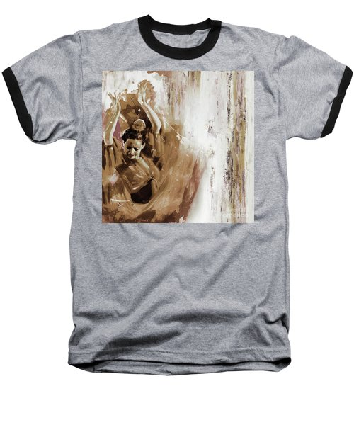 Baseball T-Shirt featuring the painting Spanish Woman Dance  by Gull G
