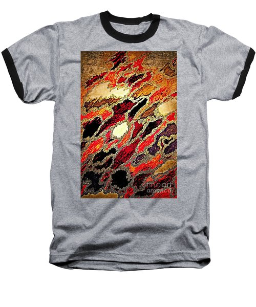 Spirit Journey Through The Fire Baseball T-Shirt by Rachel Hannah