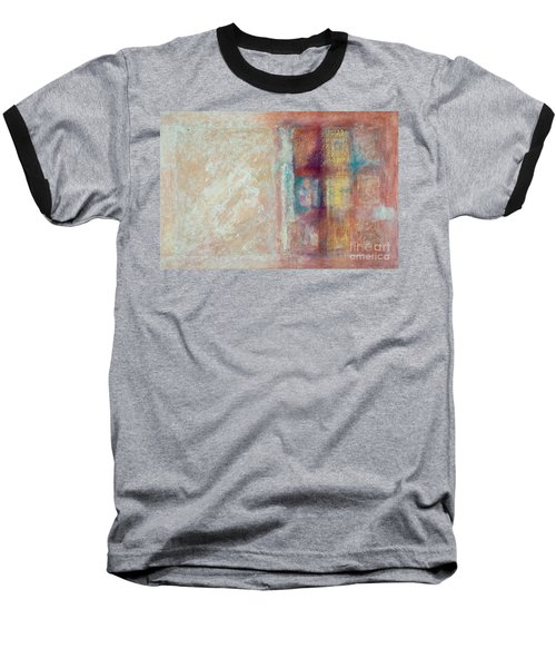 Baseball T-Shirt featuring the painting Spirit Matter Cosmos by Kerryn Madsen-Pietsch