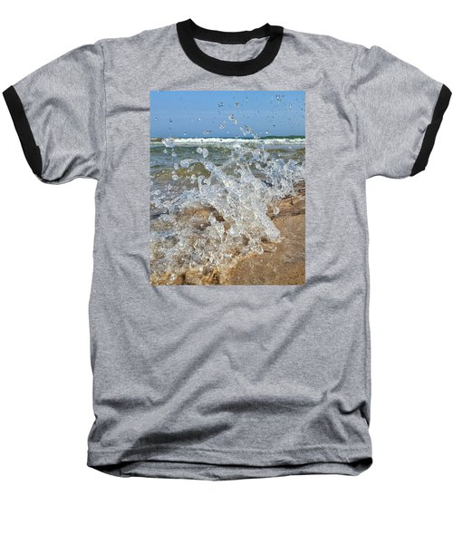 Baseball T-Shirt featuring the photograph Splash by Nikki McInnes