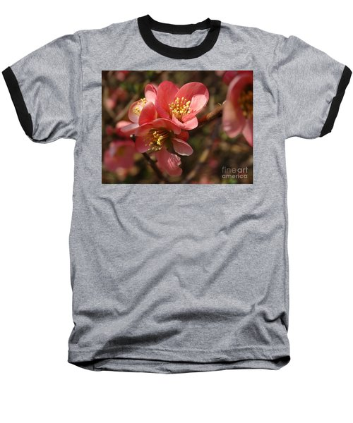Spring Blooms Baseball T-Shirt by Rebecca Overton