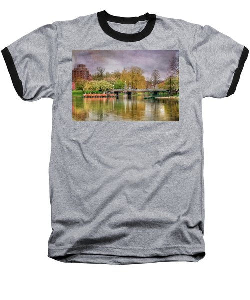 Baseball T-Shirt featuring the photograph Spring In The Boston Public Garden by Joann Vitali