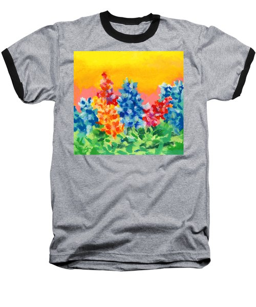 Baseball T-Shirt featuring the painting Spring Wildflowers by Stephen Anderson