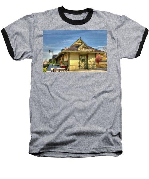 St. Charles Depot Baseball T-Shirt by Steve Stuller
