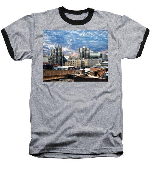 Stamford Cityscape Baseball T-Shirt