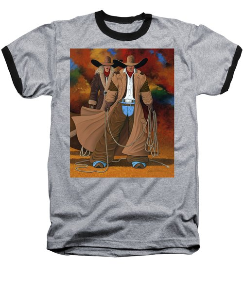 Stand By Your Man Baseball T-Shirt by Lance Headlee