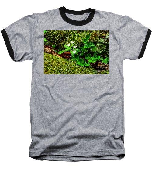 Star Chickweed Mossy Rock Baseball T-Shirt