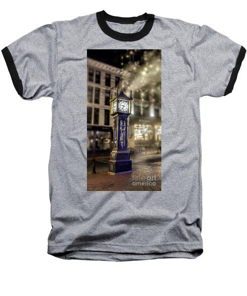 Baseball T-Shirt featuring the photograph Steam Clock by Jim  Hatch