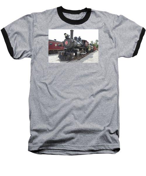 Steam Engline Number 349 Baseball T-Shirt by Linda Geiger