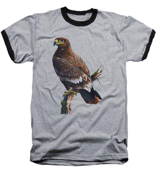 Steppe-eagle Baseball T-Shirt by Anthony Mwangi