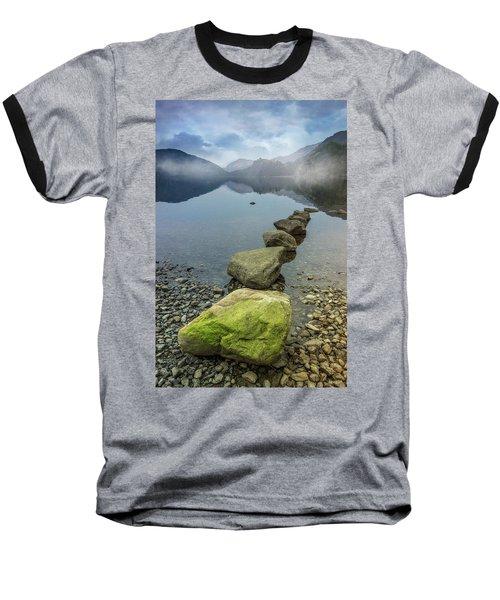 Stepping Stones Baseball T-Shirt by Ian Mitchell