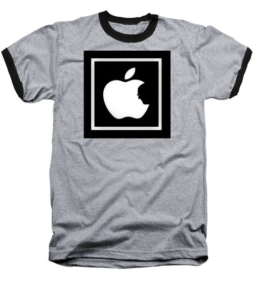 Steve Jobs Apple Baseball T-Shirt