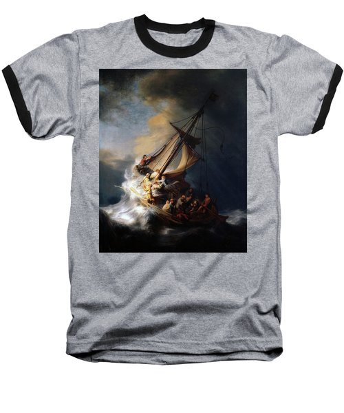 Storm On The Sea Of Galilee Baseball T-Shirt