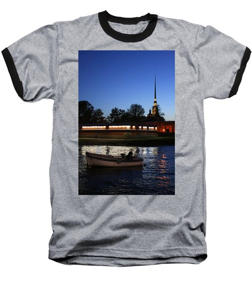St.petersburg At Night Baseball T-Shirt