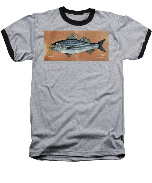 Baseball T-Shirt featuring the painting Striper by Andrew Drozdowicz