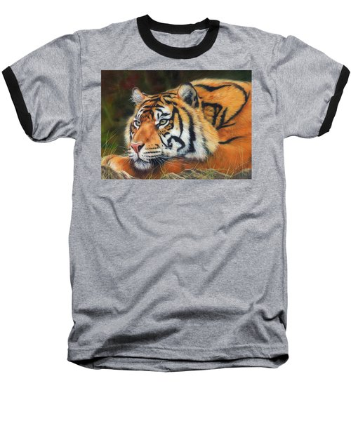 Sumatran Tiger  Baseball T-Shirt