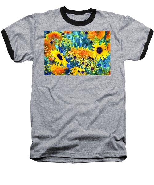 Baseball T-Shirt featuring the photograph Summer Bouquet by Byron Varvarigos