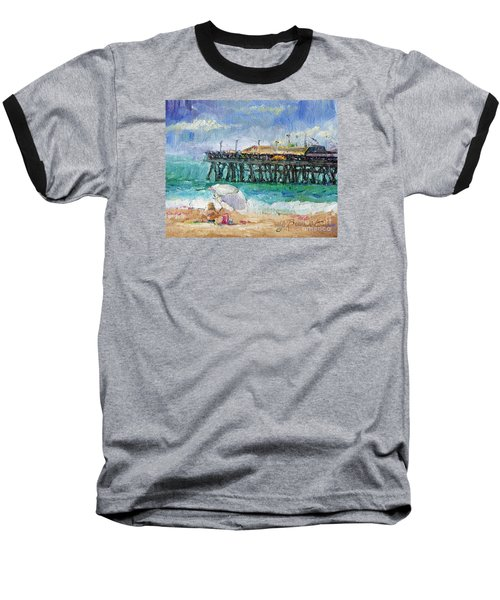 Baseball T-Shirt featuring the painting Summer Sun by Jennifer Beaudet