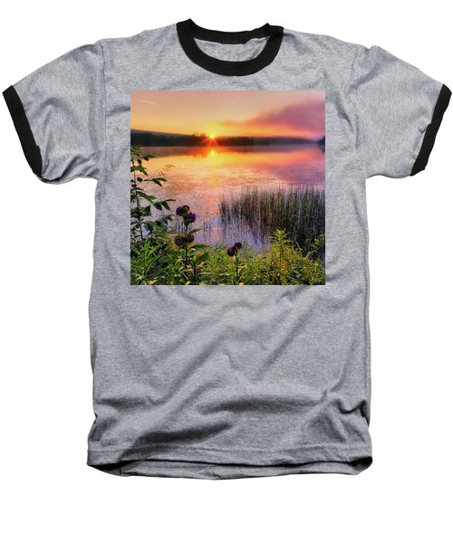 Baseball T-Shirt featuring the photograph Summer Sunrise Square by Bill Wakeley