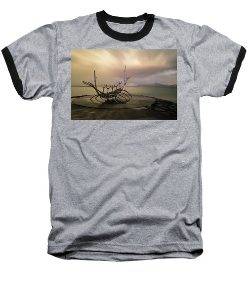 Sun Voyager Baseball T-Shirt by Allen Biedrzycki
