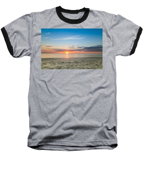 Sundown Baseball T-Shirt by Christopher L Thomley