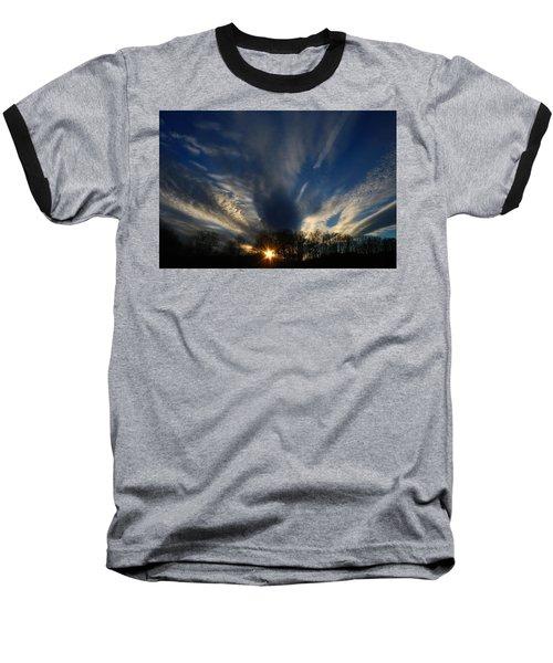 Sundown Skies Baseball T-Shirt by Kathryn Meyer