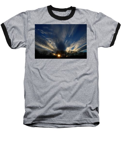 Sundown Skies Baseball T-Shirt