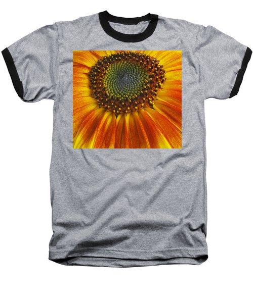 Baseball T-Shirt featuring the photograph Sunflower Center by Elvira Butler
