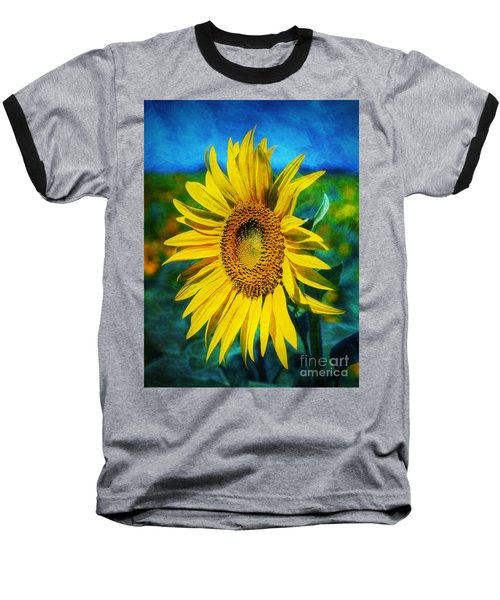 Sunflower Baseball T-Shirt by Ian Mitchell