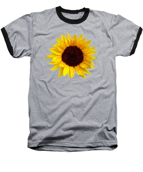 Sunflower Baseball T-Shirt by Jim Sauchyn