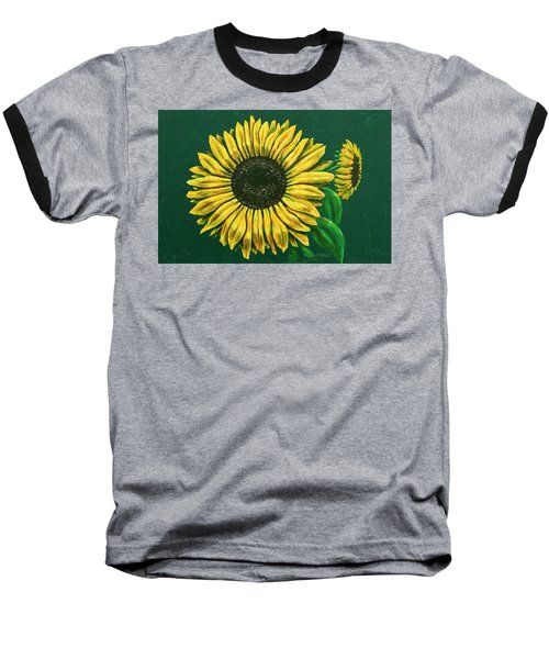 Sunflower Baseball T-Shirt by Ron Haist