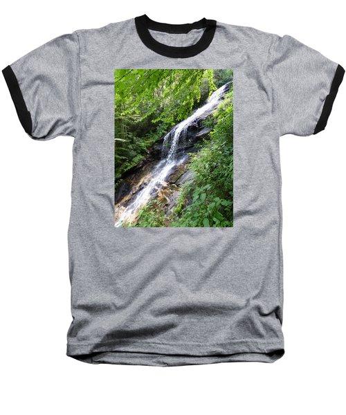 Baseball T-Shirt featuring the photograph Sunlit Cascade by Joel Deutsch