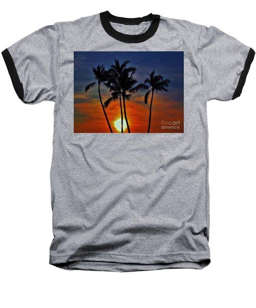 Sunlit Palms Baseball T-Shirt by Craig Wood