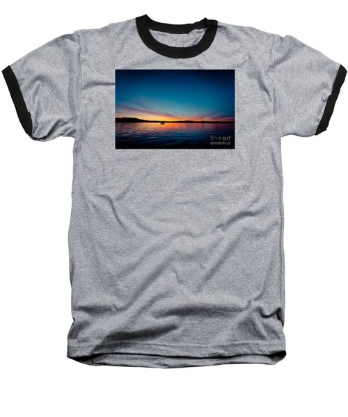 Sunrise Above Lake Water Summer Time Latvia Ezera Skanas Baseball T-Shirt