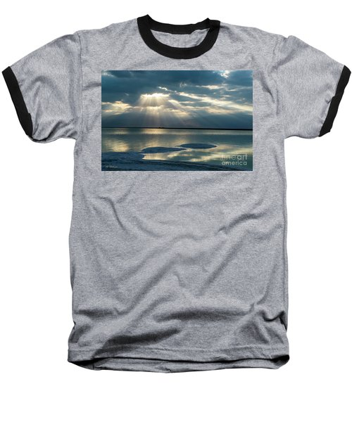 Sunrise At The Dead Sea Baseball T-Shirt