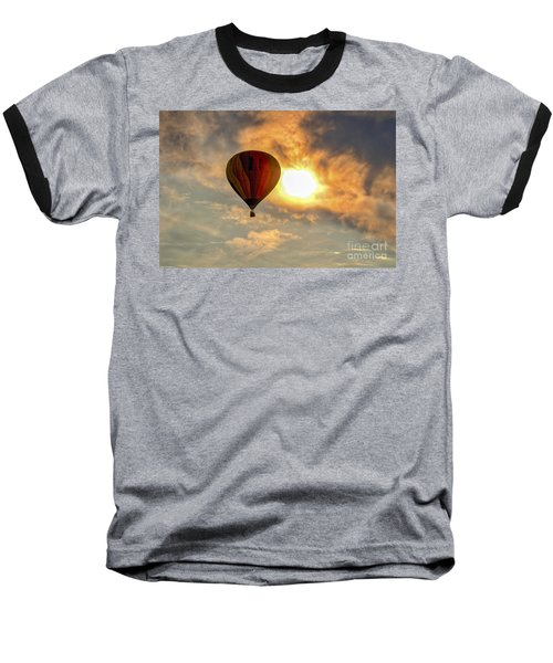 Baseball T-Shirt featuring the photograph Sunrise Flight by Mitch Shindelbower